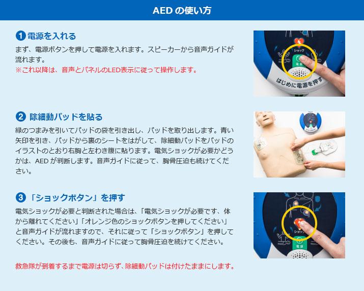 AEDの使い方