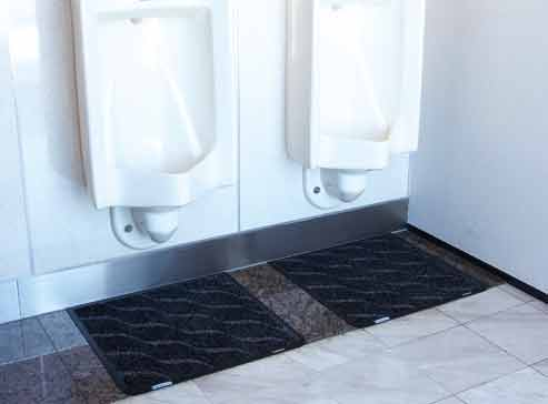 トイレマットD型、男性小便器用