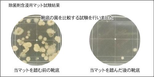 除菌剤含浸用マット試験結果