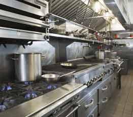 厨房機器、グリスフィルターとグリスアウト