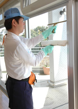 窓ガラスの清掃