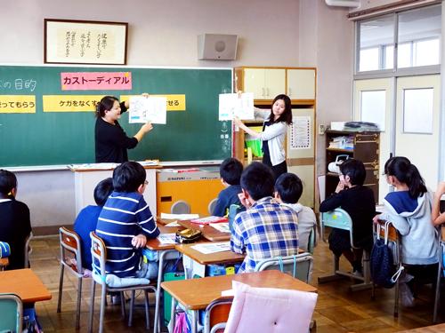 お掃除教室風景
