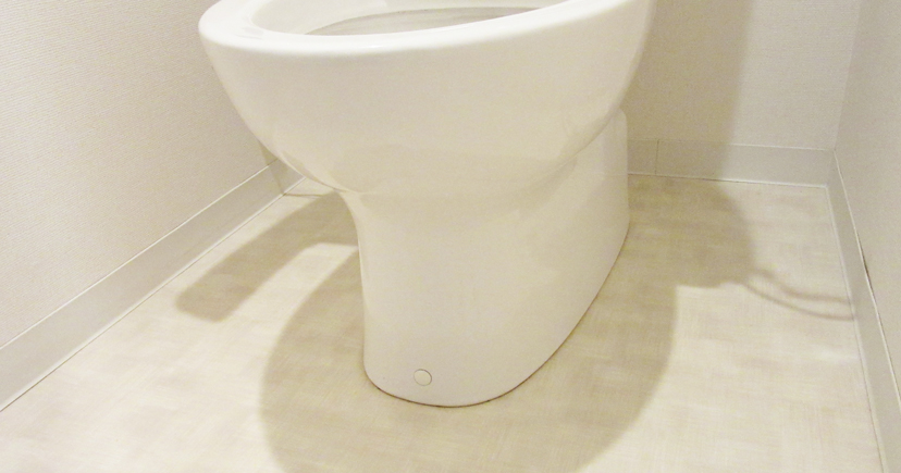 トイレと床のつなぎ目
