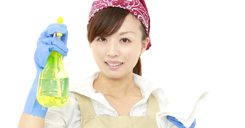 掃除スタイルの女性