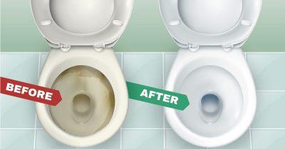 トイレ(便器)の黄ばみの取り方。いますぐできる掃除おしえます。