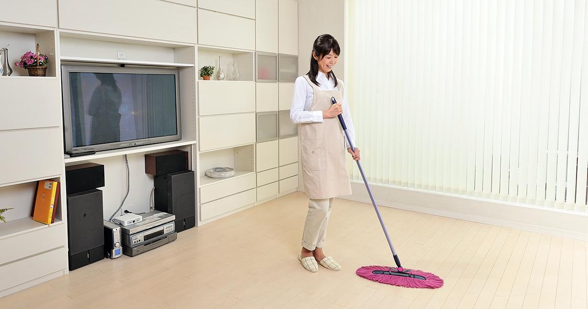 ネオシャルティでお掃除をしている
