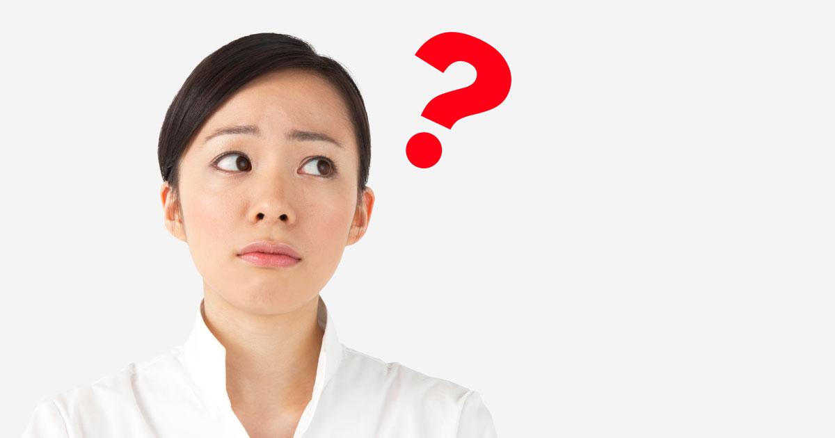 疑問を持つ女性2