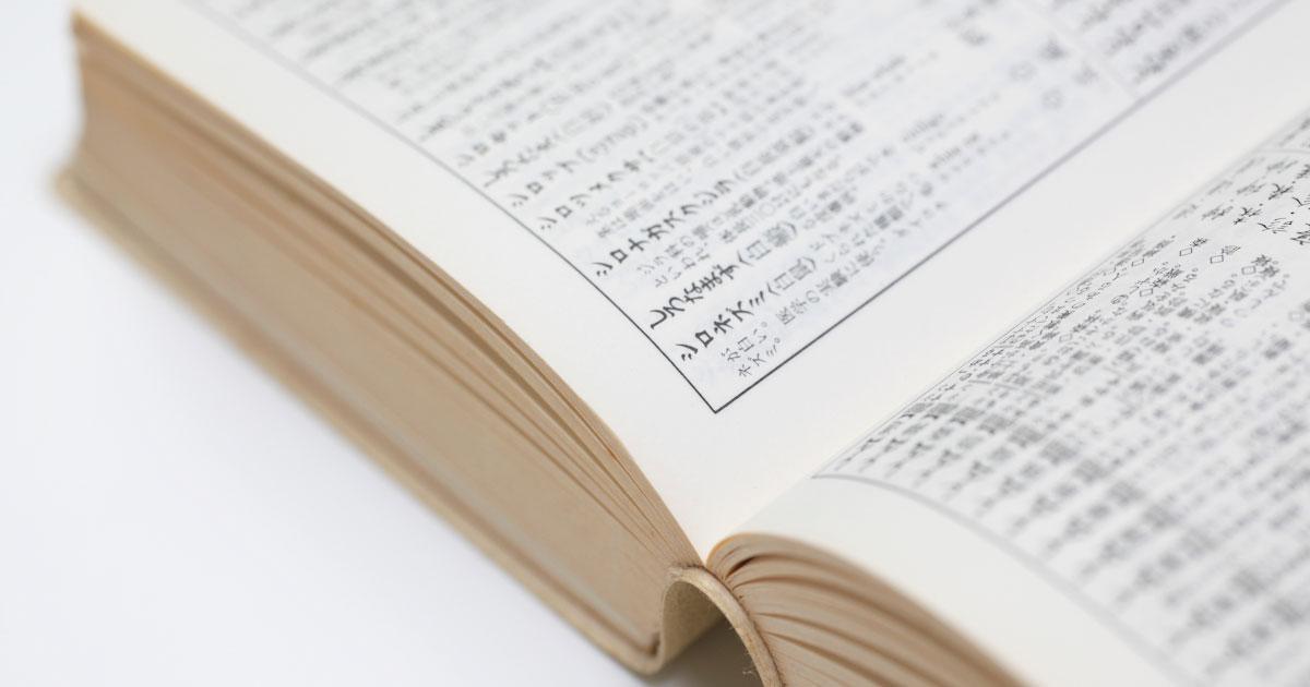 国語辞典が開いている写真